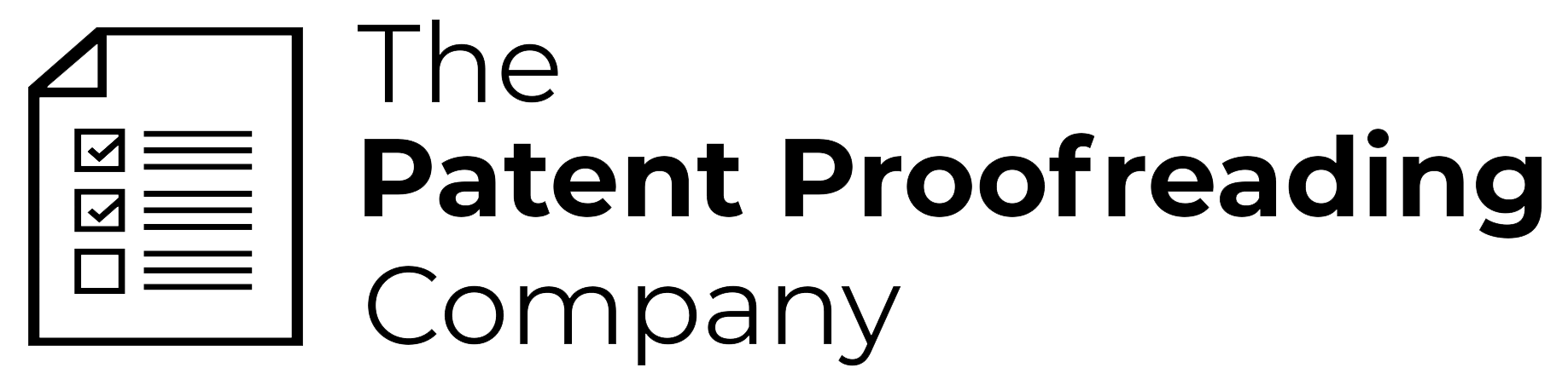 The Patent Proofreading Company