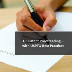 US patent proofreading with USPTO Best Practices